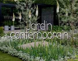 Scène de jardin contemporain