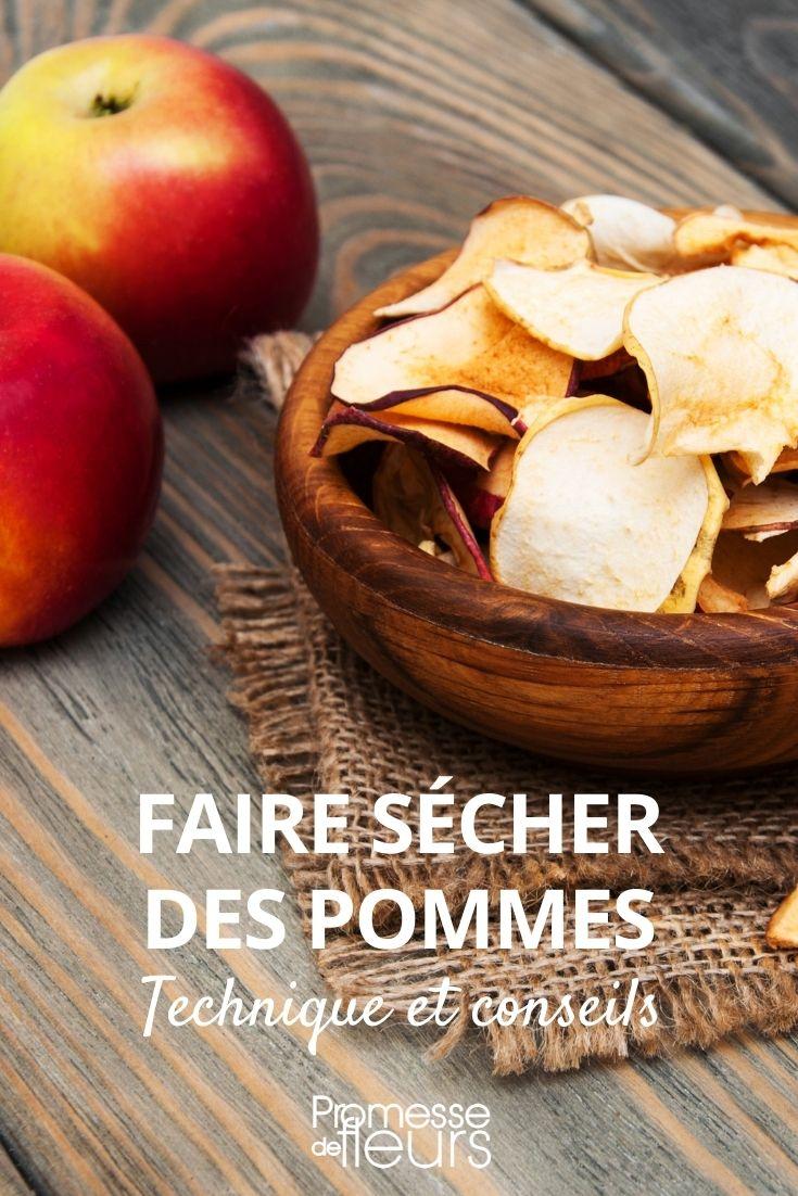sécher des pommes